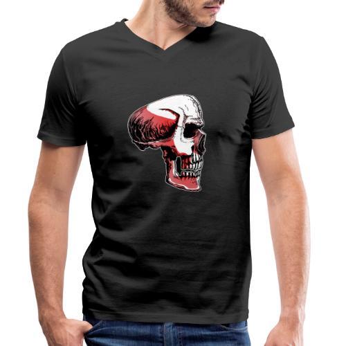 Crimewear© Skullside collored - Ekologisk T-shirt med V-ringning herr från Stanley & Stella