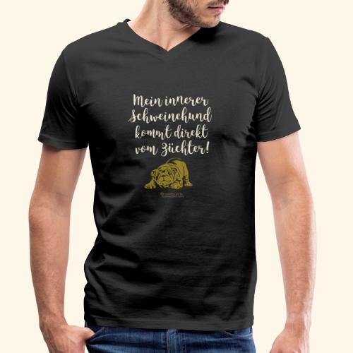Innerer Schweinehund vom Züchter | Geek T-Shirts - Männer Bio-T-Shirt mit V-Ausschnitt von Stanley & Stella