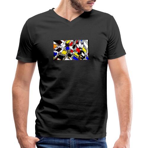 Karoselle Pop Art - Männer Bio-T-Shirt mit V-Ausschnitt von Stanley & Stella