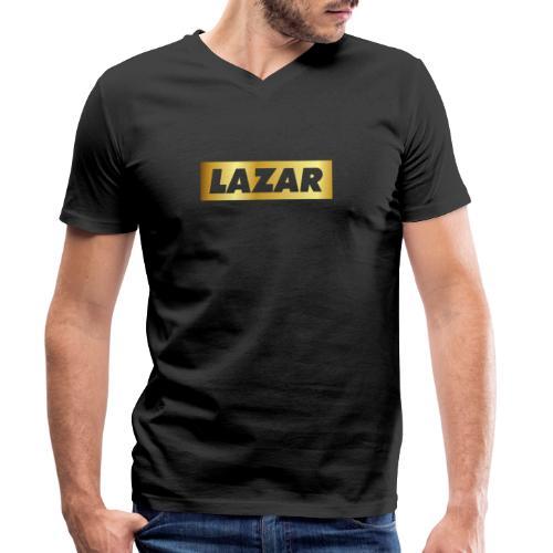 00396 Lazar dorado - Camiseta ecológica hombre con cuello de pico de Stanley & Stella