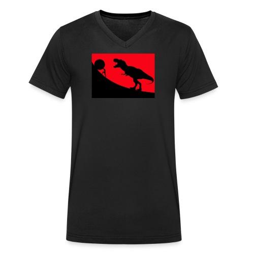 t rex red - Männer Bio-T-Shirt mit V-Ausschnitt von Stanley & Stella