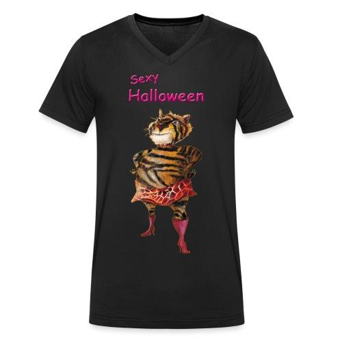 Halloween | sexy Tiger - Männer Bio-T-Shirt mit V-Ausschnitt von Stanley & Stella