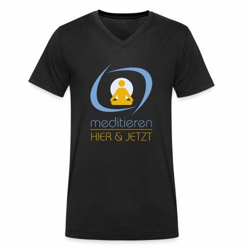 MeditierenHierJetzt.ch - Männer Bio-T-Shirt mit V-Ausschnitt von Stanley & Stella