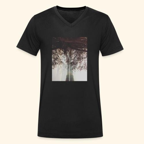Natura - Ekologiczna koszulka męska z dekoltem w serek Stanley & Stella