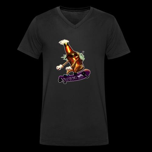 Skatepunk beer - T-shirt ecologica da uomo con scollo a V di Stanley & Stella