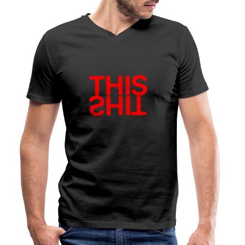 THIS Red - Camiseta ecológica hombre con cuello de pico de Stanley & Stella