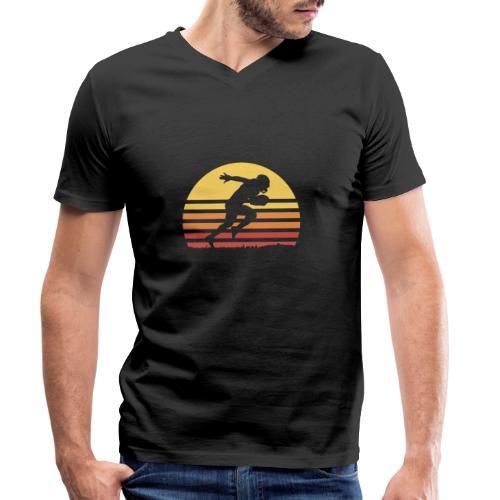 Football Sunset - Männer Bio-T-Shirt mit V-Ausschnitt von Stanley & Stella