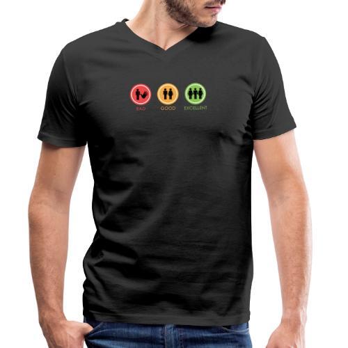 BAD GOOG EXCELLENT - T-shirt ecologica da uomo con scollo a V di Stanley & Stella