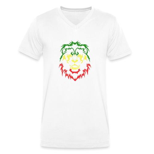 KARAVAAN Lion Reggae - Mannen bio T-shirt met V-hals van Stanley & Stella