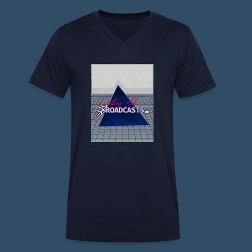80s Distressed Design - Men's Organic V-Neck T-Shirt by Stanley & Stella