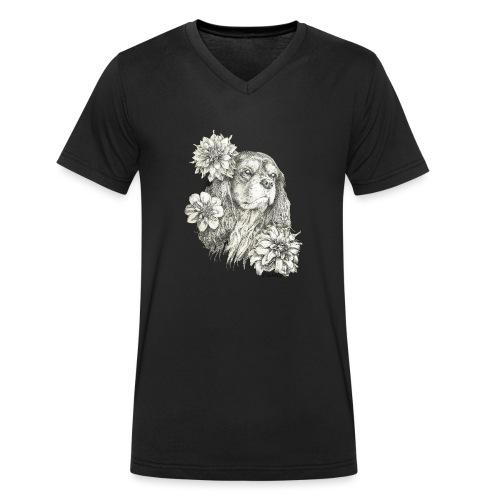 Dahlien Cavalier farbig - Männer Bio-T-Shirt mit V-Ausschnitt von Stanley & Stella