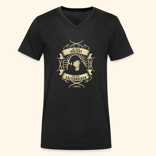 Bauingenieur T Shirt Wärmedämmung | Spruch - Männer Bio-T-Shirt mit V-Ausschnitt von Stanley & Stella