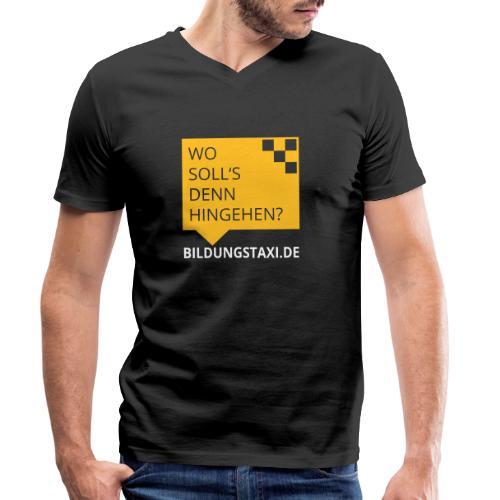 Wo soll's denn hingehen? - Männer Bio-T-Shirt mit V-Ausschnitt von Stanley & Stella