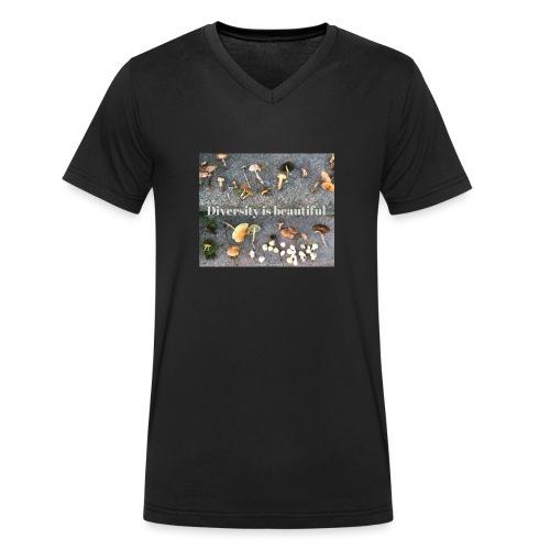 Diversity is beautiful - Økologisk Stanley & Stella T-shirt med V-udskæring til herrer