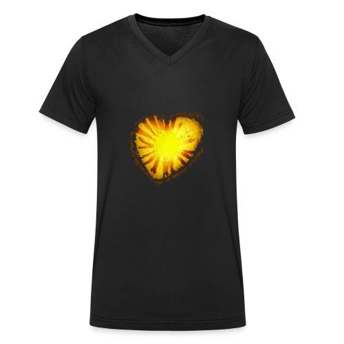 Cuore d'oro - T-shirt ecologica da uomo con scollo a V di Stanley & Stella