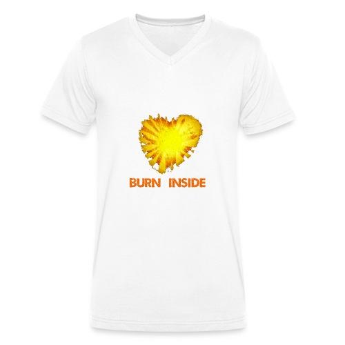 Burn inside - T-shirt ecologica da uomo con scollo a V di Stanley & Stella