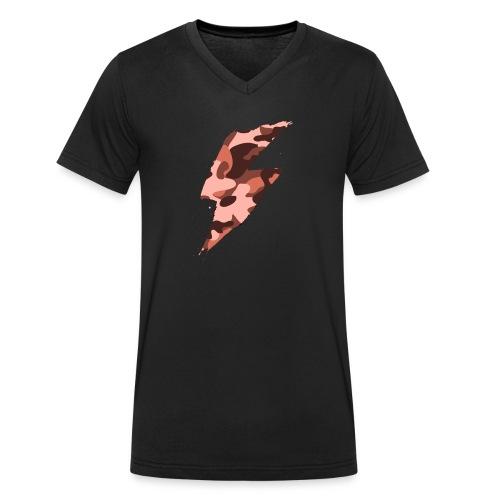 fulmine grosso rosso - T-shirt ecologica da uomo con scollo a V di Stanley & Stella