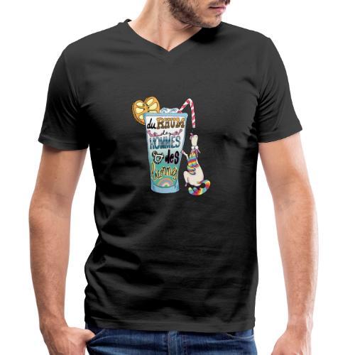 Du Rhum et des Licornes ! - T-shirt bio col V Stanley & Stella Homme