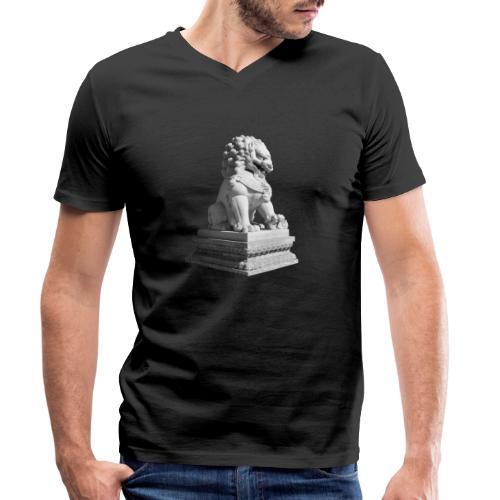 Fu Hund Tempelwächter Wächterlöwe Buddha China - Männer Bio-T-Shirt mit V-Ausschnitt von Stanley & Stella