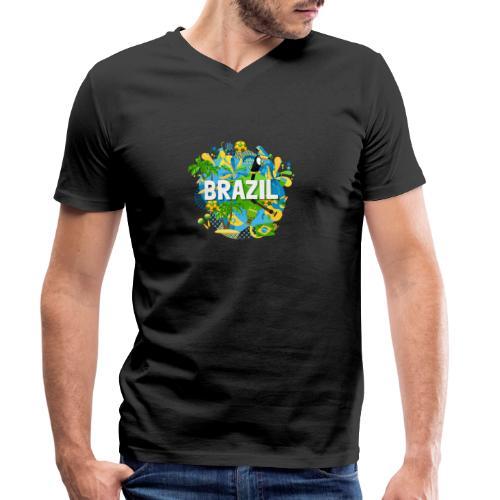 Encontro Brasil - Men's Organic V-Neck T-Shirt by Stanley & Stella