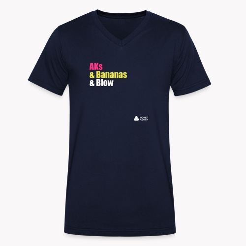 AKs & Bananas & Blow - Männer Bio-T-Shirt mit V-Ausschnitt von Stanley & Stella