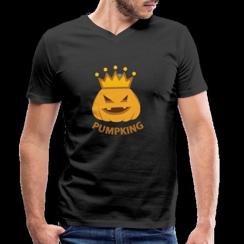 Kürbis König   Kürbisgesicht Krone Halloween - Männer Bio-T-Shirt mit V-Ausschnitt von Stanley & Stella
