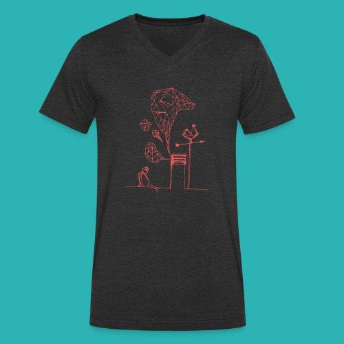 Carta_gatta_pink-png - T-shirt ecologica da uomo con scollo a V di Stanley & Stella