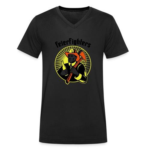 feierfighters - Männer Bio-T-Shirt mit V-Ausschnitt von Stanley & Stella