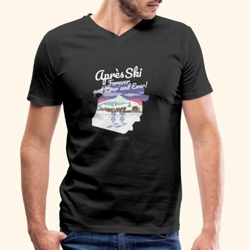 Apres Ski Forever | Ski T-Shirts - Männer Bio-T-Shirt mit V-Ausschnitt von Stanley & Stella