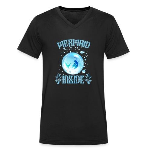 Mermaid Inside - Männer Bio-T-Shirt mit V-Ausschnitt von Stanley & Stella