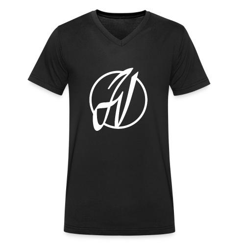 JV Guitars - logo blanc - T-shirt bio col V Stanley & Stella Homme