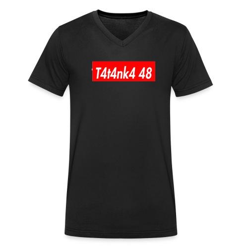 T4T4NK4-RED-LOGO - T-shirt ecologica da uomo con scollo a V di Stanley & Stella
