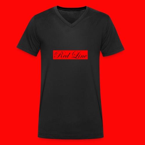 red line Red collection - Ekologisk T-shirt med V-ringning herr från Stanley & Stella
