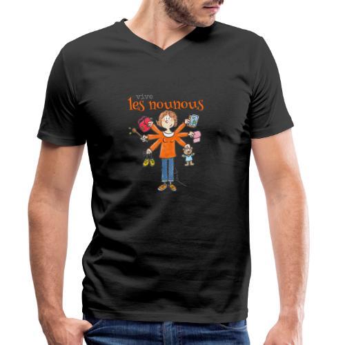 013 vive les nounous - T-shirt bio col V Stanley & Stella Homme