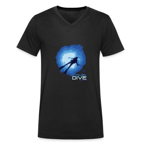 Come and dive with me - Ekologiczna koszulka męska z dekoltem w serek Stanley & Stella