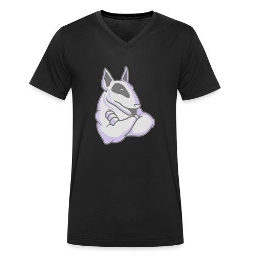 Bullterrier Maskottchen 3c - Männer Bio-T-Shirt mit V-Ausschnitt von Stanley & Stella
