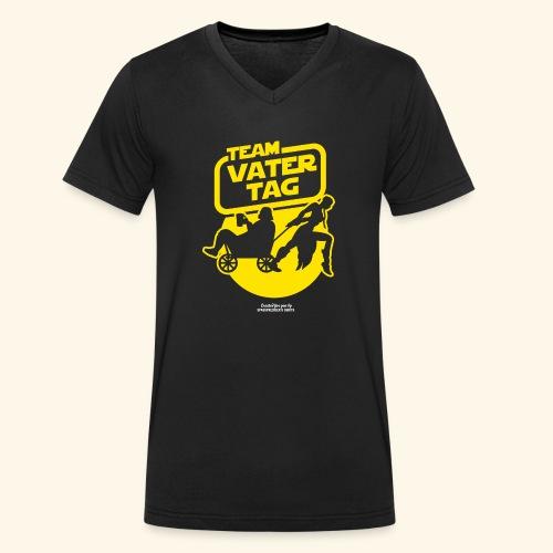 Vatertags T Shirt Team Vatertag - Männer Bio-T-Shirt mit V-Ausschnitt von Stanley & Stella
