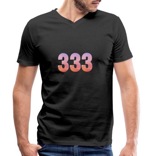 333 vous étes entouré de maitres ascensionnés - T-shirt bio col V Stanley & Stella Homme
