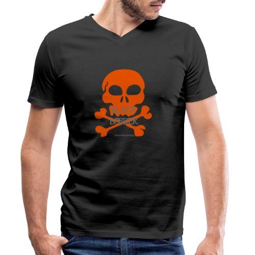 Black Bobber - Chopper Skull Totenkopf -Jackseven - Männer Bio-T-Shirt mit V-Ausschnitt von Stanley & Stella