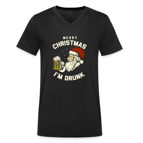 MERRY CHRISMAST I'm Drunk - Men's Organic V-Neck T-Shirt by Stanley & Stella