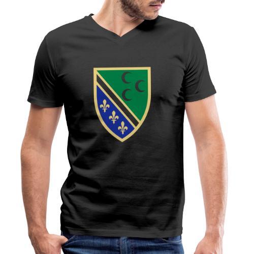 sandzak_emblem - Männer Bio-T-Shirt mit V-Ausschnitt von Stanley & Stella