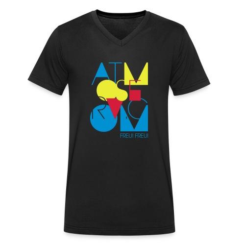 ATMO neon - Männer Bio-T-Shirt mit V-Ausschnitt von Stanley & Stella