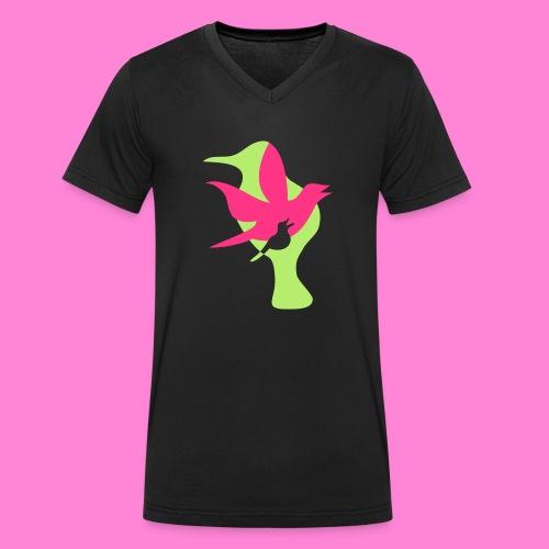 birds - Mannen bio T-shirt met V-hals van Stanley & Stella