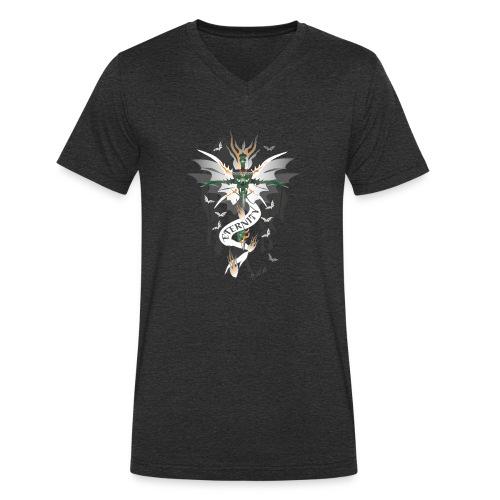 Dragon Sword - Eternity - Drachenschwert - Männer Bio-T-Shirt mit V-Ausschnitt von Stanley & Stella