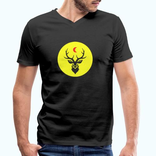 Hipster deer - Men's Organic V-Neck T-Shirt by Stanley & Stella