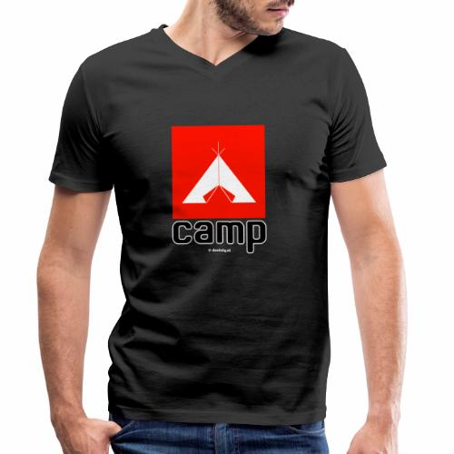 Camp - Mannen bio T-shirt met V-hals van Stanley & Stella