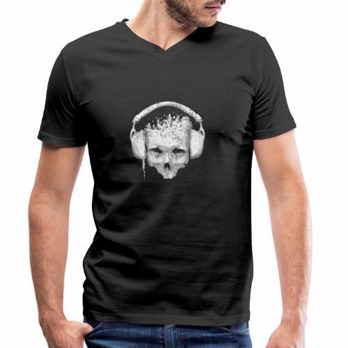DJ Skull - Mannen bio T-shirt met V-hals van Stanley & Stella