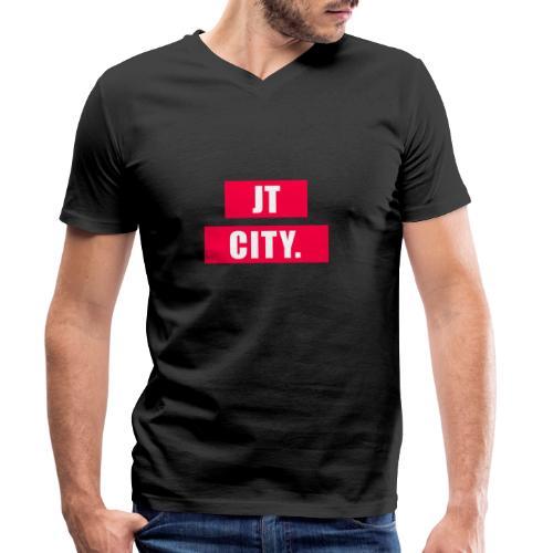 JT CITY RED ANDERS - Mannen bio T-shirt met V-hals van Stanley & Stella