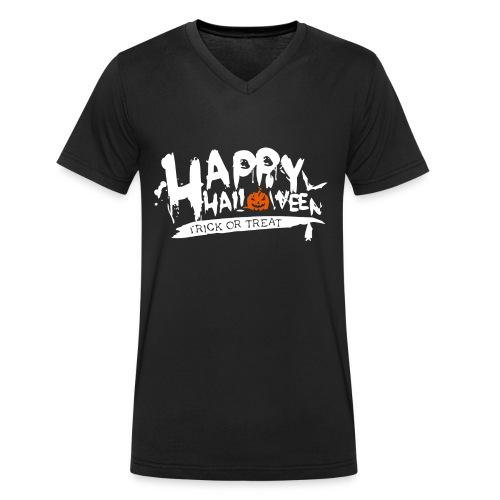 Happy Halloween - Männer Bio-T-Shirt mit V-Ausschnitt von Stanley & Stella