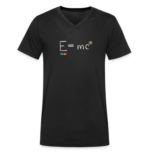 Rubik's E = mc - Ekologisk T-shirt med V-ringning herr från Stanley & Stella